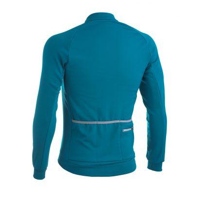 Solo Long Sleeve Winter Jersey Blue Back