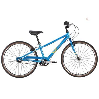 byk e-540 boys bike bright blue side