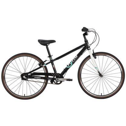 byk e-540 boys bike matte black white side