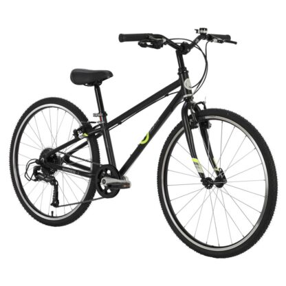byk e-540x9 boys bike black neon yellow front