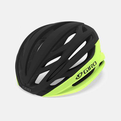 Giro Syntax Mips Road Helmet Highlight Yellow Black Hero