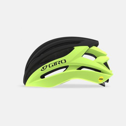 Giro Syntax Mips Road Helmet Highlight Yellow Black Side