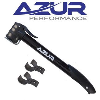 Azur Cyclone Dual Head Mini Bike Pump