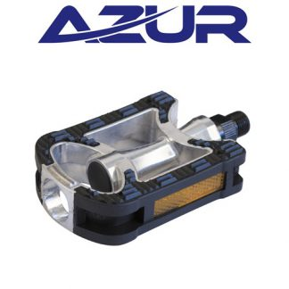 "Azur 9/16"" Alloy/Rubber City Pedals"