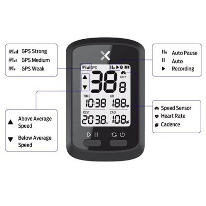 Azur XOSS Commuter GPS Bike Computer 2