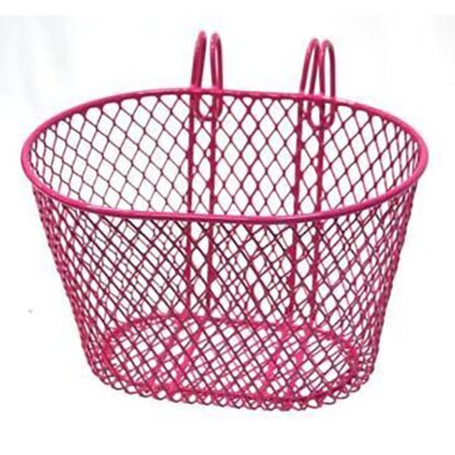 mall wire front basket Pink