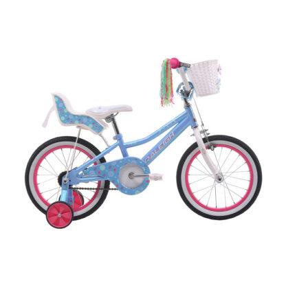 Raleigh Bella 16 Light Blue Girls Kids Bike