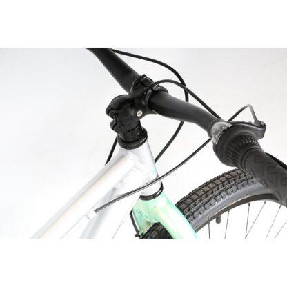 Haro Beasley 26 Kids Mountain Bike 2021 Silver Mint Handlebar
