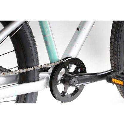 Haro Beasley 26 Kids Mountain Bike 2021 Silver Mint Cranks