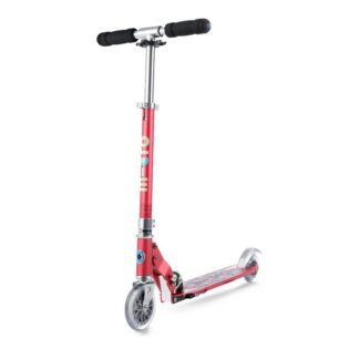 Micro Sprite 2 Wheel Scooter Floral Dot Raspberry Hero