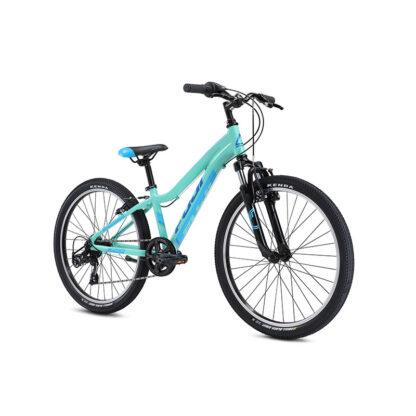 Fuji Dynamite 24 Sport Kids Mountain Bike 2021 Silver Mint Front
