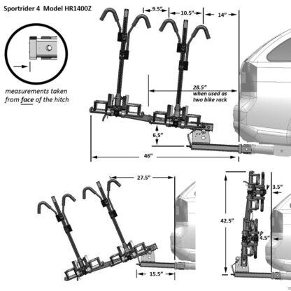 hollywood racks sport rider se 4 bike rack diagram