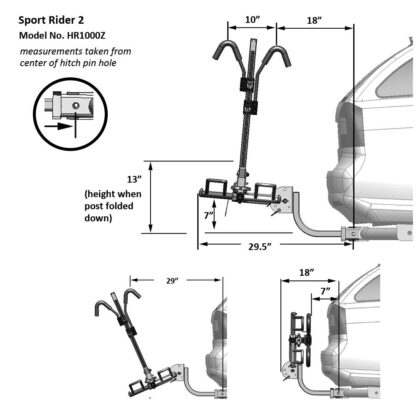 hollywood racks sport rider hitch rack hr1000z diagram