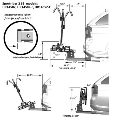 hollywood racks sport rider se2 car rack diagram