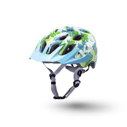 Kali Chakra Youth Helmet Flora - Gloss Blue Front
