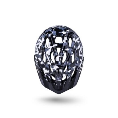 Kali Chakra Youth Helmet Pixel - Gloss Black Top