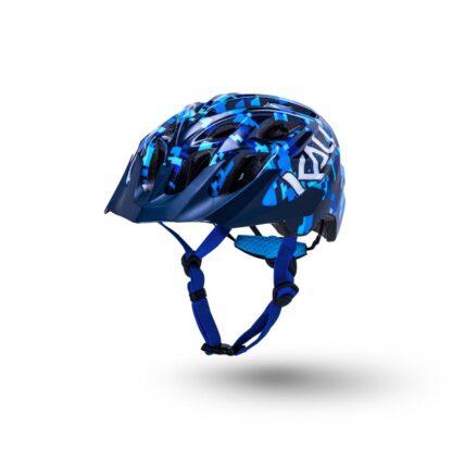 Kali Chakra Youth Helmet Pixel - Gloss Blue Front