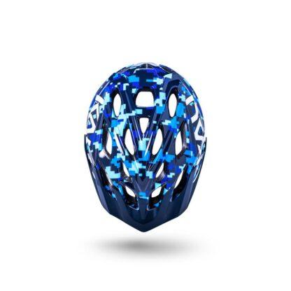 Kali Chakra Youth Helmet Pixel - Gloss Blue Top