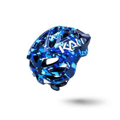 Kali Chakra Youth Helmet Pixel - Gloss Blue Rear