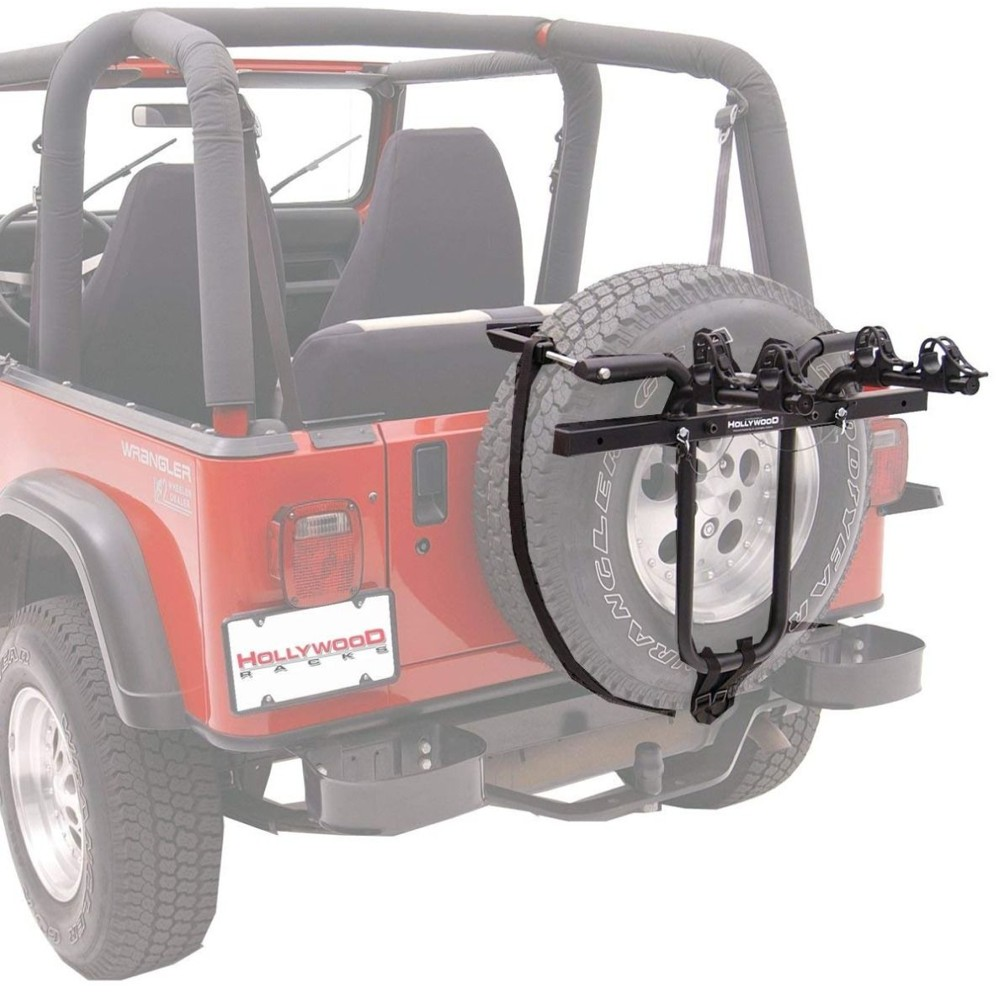 hollywood sr1 spare tyre rack jeep adapter included